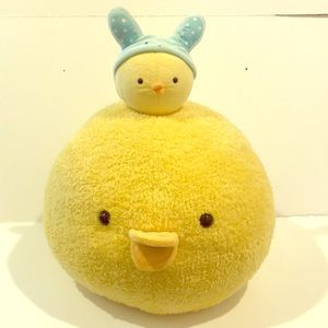 🐤Chick pillow large and small plush (lot of 2)